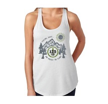 Womens 125th Anniversary Racerback Tank Top