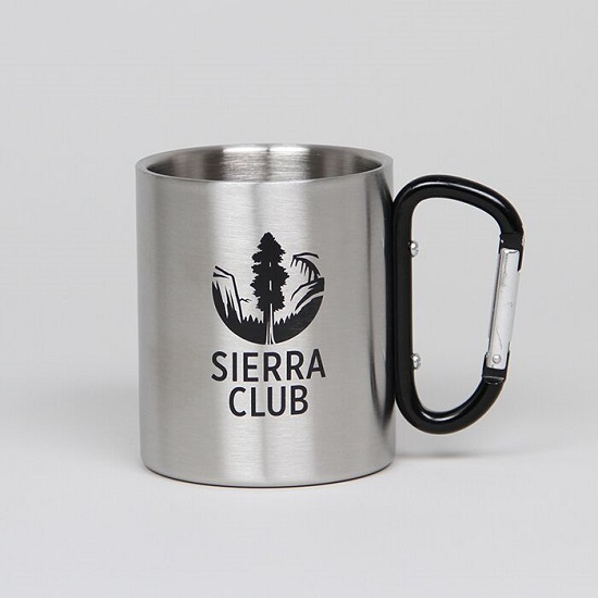 Stainless Steel Carabiner Mug LARGE