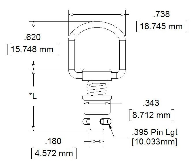 CLoc 4000R Series Folding Ring Handle
