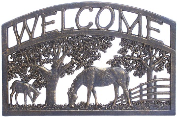 Bronze Finish Welcome Sign