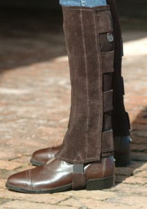 Suede Half Chaps/Hook and Loop