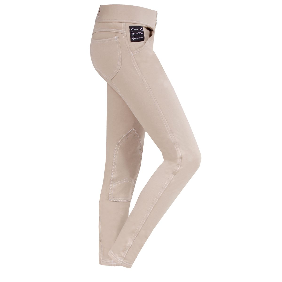 HorZe Paige Childrens Pull-On Denim Look Breeches