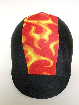 Helmet Cover:  Red Fire Stripe