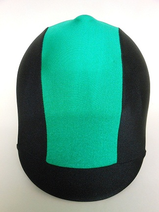 Helmet Cover:  Kelly Green Stripe