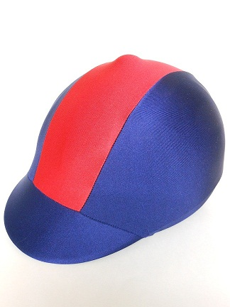 Helmet Cover:  Navy/Red Stripe