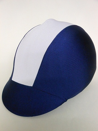 Helmet Cover:  Navy/Blue Stripe