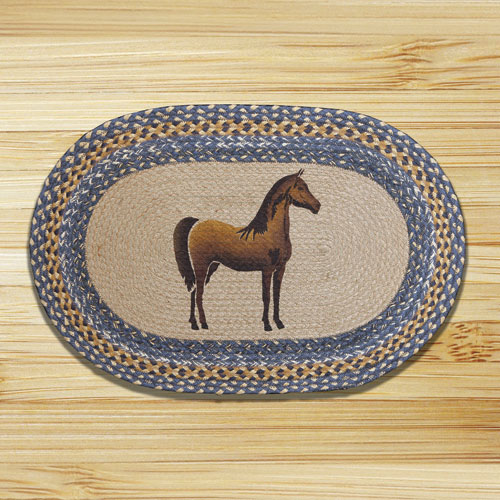 Braided Oval Jute Rug LARGE