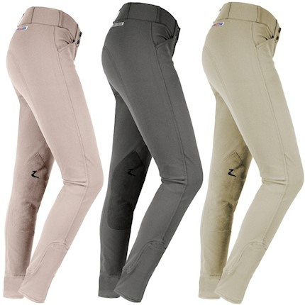HorZe Ladies Grand Prix Knee Patch Riding Breeches THUMBNAIL