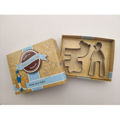 Horse and Rider Cookie Cutter MAIN