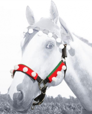 Holiday Elf Halter / Bridle Cover