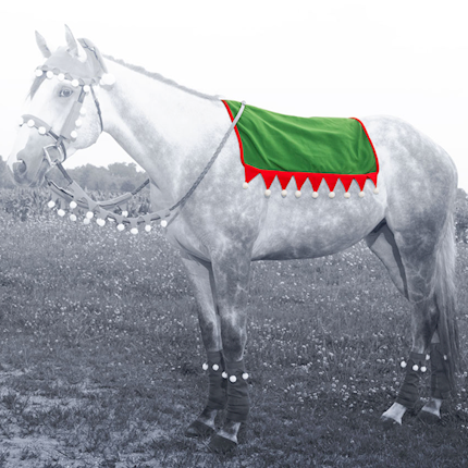 Holiday Elf Saddle Pad Cover THUMBNAIL