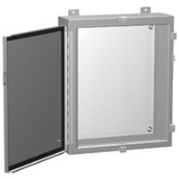 Hammond 1418N4M10 NEMA 4 Metal Enclosure w/ Hinged Clamped Door