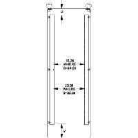 Hammond 1418WFHP Full Height Panel Rails for 72x24 Enclosures