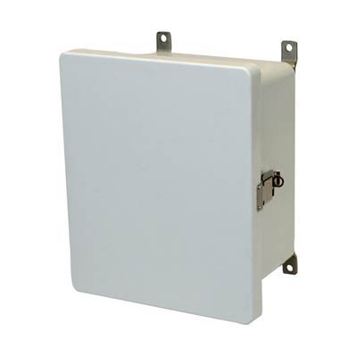 Allied Moulded AM1084L NEMA 4X Fiberglass Enclosure