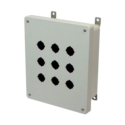 Allied AM1084P9 NEMA 4X Fiberglass Pushbutton Enclosure