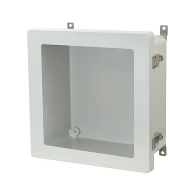 Allied Moulded AM1226LW NEMA 4X Fiberglass Enclosure