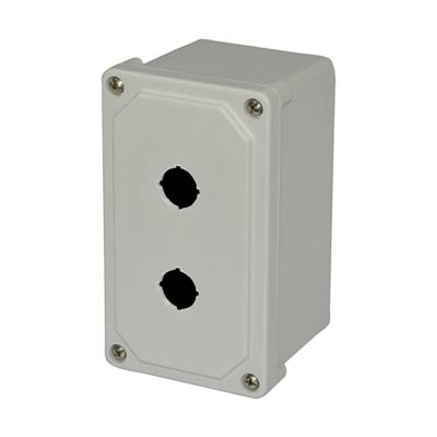 Allied AM2PB22 NEMA 4X Fiberglass Pushbutton Enclosure