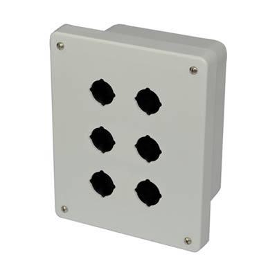 Allied AM864P6 NEMA 4X Fiberglass Pushbutton Enclosure