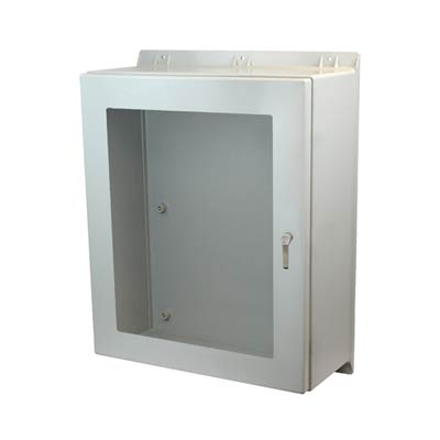 Allied Moulded AMEC3630123PTW NEMA 4X Fiberglass Enclosure