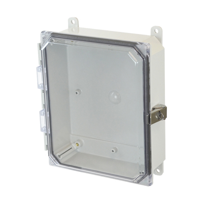 Allied Moulded AMP1082CCL NEMA 4X Polycarbonate Enclosure