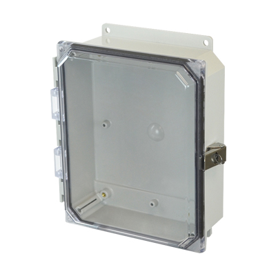 Allied Moulded AMP1082CCLF NEMA 4X Polycarbonate Enclosure