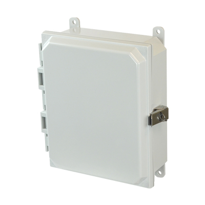 Allied Moulded AMP1082L NEMA 4X Polycarbonate Enclosure