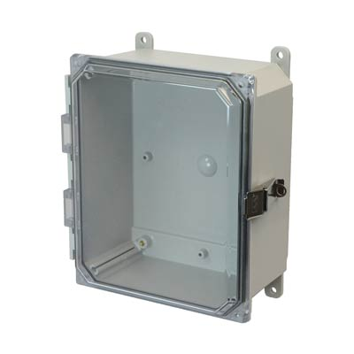 Allied Moulded AMP1084CCL NEMA 4X Polycarbonate Enclosure