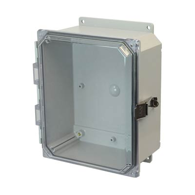 Allied Moulded AMP1084CCLF NEMA 4X Polycarbonate Enclosure