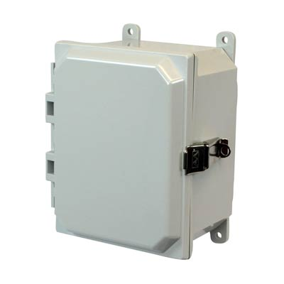 Allied Moulded AMP1084L NEMA 4X Polycarbonate Enclosure