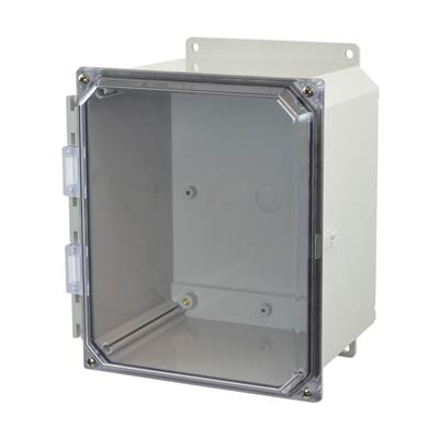 Allied AMP1086CCF NEMA 4X & 6P Polycarbonate Enclosure