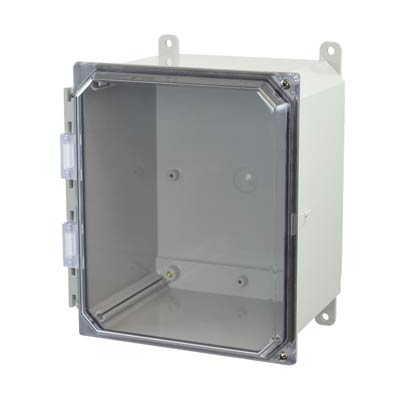Allied Moulded AMP1086CCH NEMA 4X Polycarbonate Enclosure_THUMBNAIL