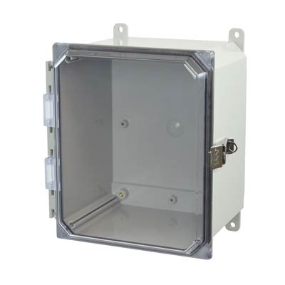 Allied Moulded AMP1086CCL NEMA 4X Polycarbonate Enclosure