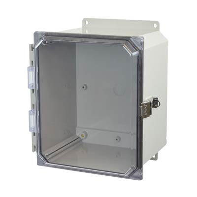 Allied Moulded AMP1086CCLF NEMA 4X Polycarbonate Enclosure