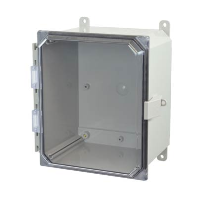 Allied Moulded AMP1086CCNL NEMA 4X Polycarbonate Enclosure