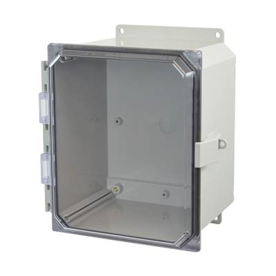 Allied Moulded AMP1086CCNLF NEMA 4X Polycarbonate Enclosure