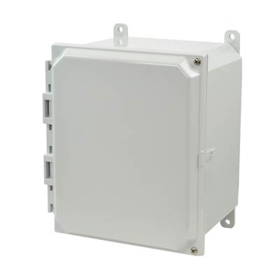 Allied Moulded AMP1086H NEMA 4X Polycarbonate Enclosure