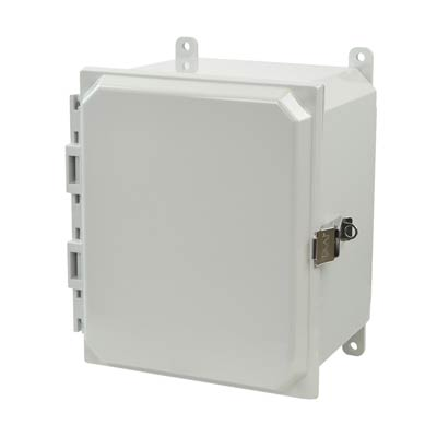 Allied Moulded AMP1086L NEMA 4X Polycarbonate Enclosure
