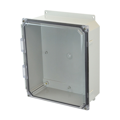 Allied AMP1204CCF NEMA 4X & 6P Polycarbonate Enclosure