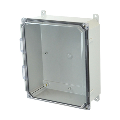 Allied Moulded AMP1204CCH NEMA 4X Polycarbonate Enclosure