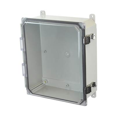 Allied Moulded AMP1204CCL NEMA 4X Polycarbonate Enclosure
