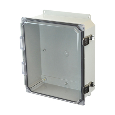 Allied Moulded AMP1204CCLF NEMA 4X Polycarbonate Enclosure