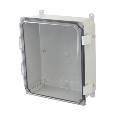 Allied Moulded AMP1204CCNL NEMA 4X Polycarbonate Enclosure