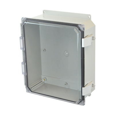Allied Moulded AMP1204CCNLF NEMA 4X Polycarbonate Enclosure