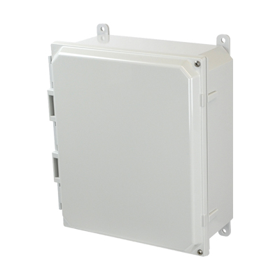 Allied Moulded AMP1204H NEMA 4X Polycarbonate Enclosure
