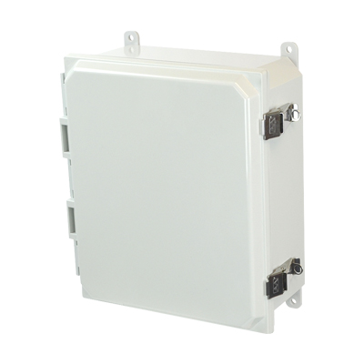 Allied Moulded AMP1204L NEMA 4X Polycarbonate Enclosure