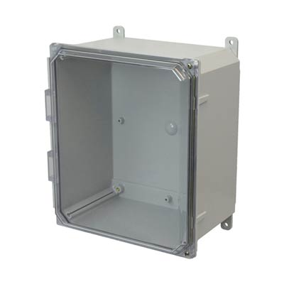 Allied Moulded AMP1206CCH NEMA 4X Polycarbonate Enclosure