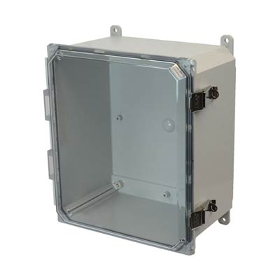 Allied Moulded AMP1206CCL NEMA 4X Polycarbonate Enclosure