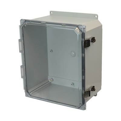 Allied Moulded AMP1206CCLF NEMA 4X Polycarbonate Enclosure