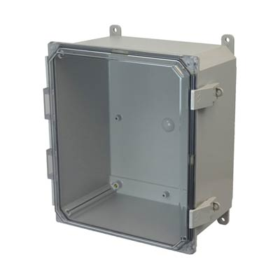 Allied Moulded AMP1206CCNL NEMA 4X Polycarbonate Enclosure