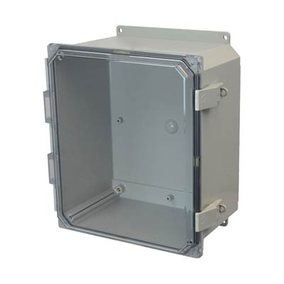 Allied Moulded AMP1206CCNLF NEMA 4X Polycarbonate Enclosure
